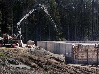 residential foundation wall in progress